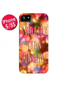 Coque Brighter Than Sunshine Paillettes pour iPhone 5 et 5S - Maximilian San