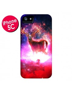 Coque Cosmic Deer Cerf Galaxy pour iPhone 5C - Maximilian San