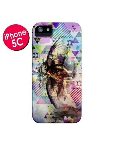 Coque Oeil Triangle Oiseau Cry Bird pour iPhone 5C - Maximilian San