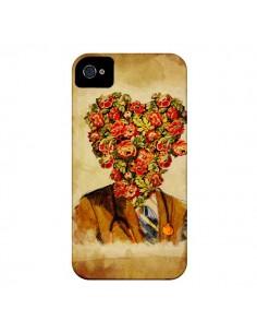 Coque Docteur Love Fleurs pour iPhone 4 et 4S - Maximilian San
