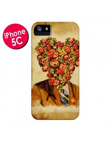 Coque Docteur Love Fleurs pour iPhone 5C - Maximilian San