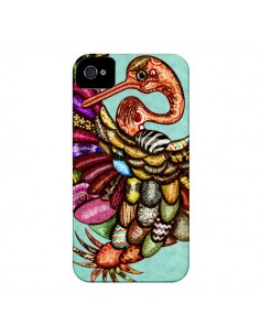 Coque Paon Multicolore Eco Bird pour iPhone 4 et 4S - Maximilian San