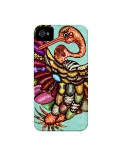 Coque Paon Multicolore Eco Bird pour iPhone 4 et 4S - Maximilian San