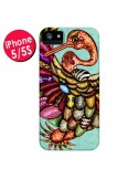 Coque Paon Multicolore Eco Bird pour iPhone 5 et 5S - Maximilian San