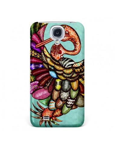Coque Paon Multicolore Eco Bird pour Samsung Galaxy S4 - Maximilian San