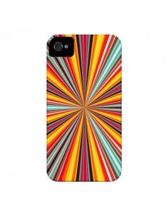 Coque Horizon Bandes Multicolores pour iPhone 4 et 4S - Maximilian San
