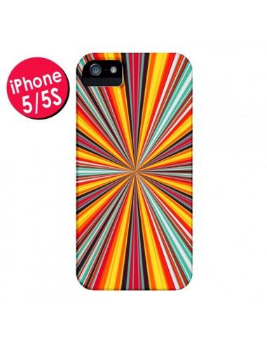 Coque Horizon Bandes Multicolores pour iPhone 5 et 5S - Maximilian San