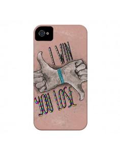 Coque I win You lose pour iPhone 4 et 4S - Maximilian San