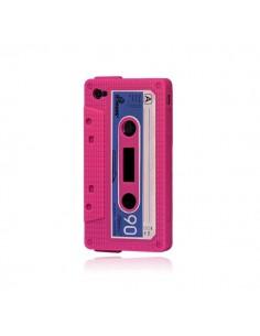Coque Silicone Cassette Vintage pour iPhone 4/4S - Fuschia