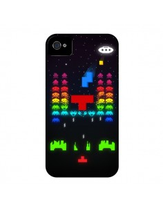 Coque Invatris Space Invaders Tetris Jeu pour iPhone 4 et 4S - Maximilian San