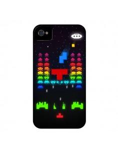Coque Invatris Space Invaders Tetris Jeu pour iPhone 4 et 4S - Maximilian San
