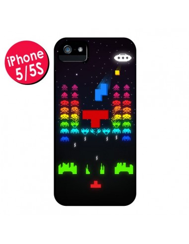 Coque Invatris Space Invaders Tetris Jeu pour iPhone 5 et 5S - Maximilian San