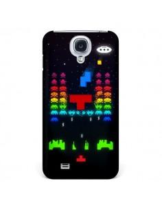 Coque Invatris Space Invaders Tetris Jeu pour Samsung Galaxy S4 - Maximilian San