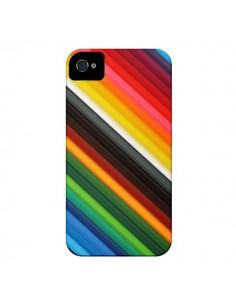 Coque Arc en Ciel Rainbow pour iPhone 4 et 4S - Maximilian San