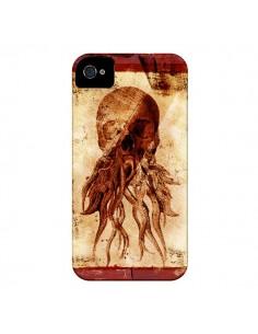 Coque Octopu Skull Poulpe Tête de Mort pour iPhone 4 et 4S - Maximilian San