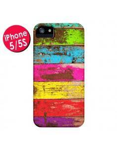 Coque Bois Coloré Vintage pour iPhone 5 et 5S - Maximilian San