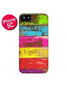 Coque Bois Coloré Vintage pour iPhone 5C - Maximilian San