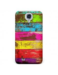 Coque Bois Coloré Vintage pour Samsung Galaxy S4 - Maximilian San