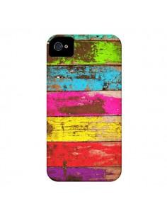 Coque Bois Coloré Vintage pour iPhone 4 et 4S - Maximilian San