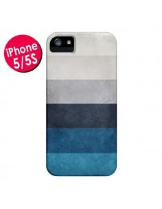 Coque Bandes Horizontales Greece Hues pour iPhone 5 et 5S - Maximilian San