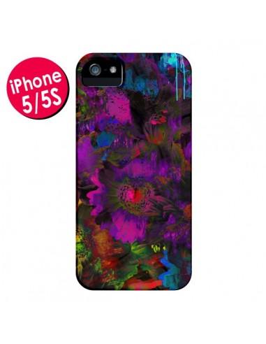 Coque Fleurs Lysergic Lujan pour iPhone 5 et 5S - Maximilian San