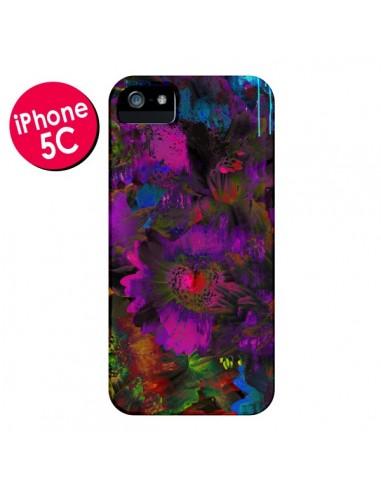 Coque Fleurs Lysergic Lujan pour iPhone 5C - Maximilian San