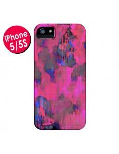 Coque Fleurs Rose Lysergic Pink pour iPhone 5 et 5S - Maximilian San