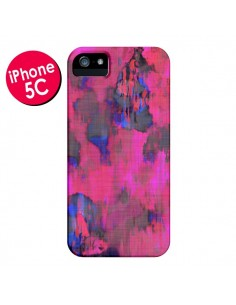 Coque Fleurs Rose Lysergic Pink pour iPhone 5C - Maximilian San