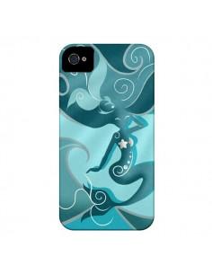 Coque La Petite Sirene Blue Mermaid pour iPhone 4 et 4S - LouJah