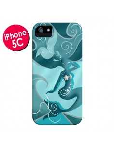 Coque La Petite Sirene Blue Mermaid pour iPhone 5C - LouJah