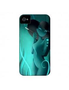 Coque Femme Enora Blue Smoke pour iPhone 4 et 4S - LouJah