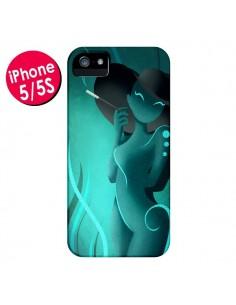 Coque Femme Enora Blue Smoke pour iPhone 5 et 5S - LouJah