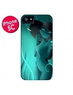 Coque Femme Enora Blue Smoke pour iPhone 5C - LouJah
