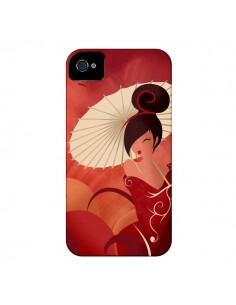 Coque Sakura Asian Geisha pour iPhone 4 et 4S - LouJah