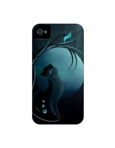 Coque Chat Clair de Lune Moonlight pour iPhone 4 et 4S - LouJah