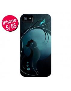 Coque Chat Clair de Lune Moonlight pour iPhone 5 et 5S - LouJah
