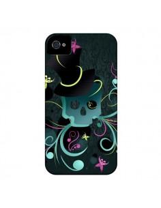 Coque Tête de Mort Papillon Skull pour iPhone 4 et 4S - LouJah