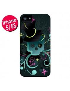 Coque Tête de Mort Papillon Skull pour iPhone 5 et 5S - LouJah
