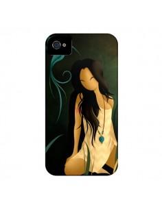 Coque Femme Indienne Pocahontas pour iPhone 4 et 4S - LouJah