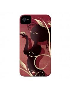 Coque Femme Asiatique Love Coeur pour iPhone 4 et 4S - LouJah