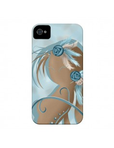 Coque Femme Plume Zoey Woman Feather pour iPhone 4 et 4S - LouJah
