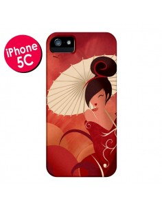 Coque Sakura Asian Geisha pour iPhone 5C - LouJah