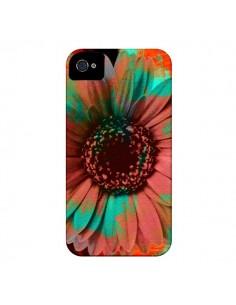 Coque Tournesol Lysergic Flower pour iPhone 4 et 4S - Maximilian San