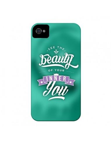 Coque Beauty Vert pour iPhone 4 et 4S - Javier Martinez