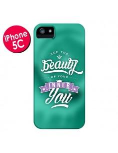 Coque Beauty Vert pour iPhone 5C - Javier Martinez