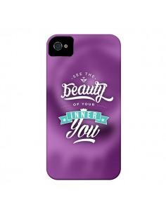 Coque Beauty Violet pour iPhone 4 et 4S - Javier Martinez