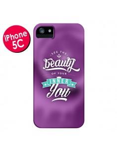 Coque Beauty Violet pour iPhone 5C - Javier Martinez