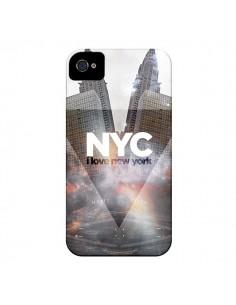 Coque I Love New York City Gris pour iPhone 4 et 4S - Javier Martinez