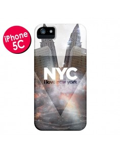 Coque I Love New York City Gris pour iPhone 5C - Javier Martinez
