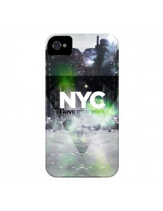Coque I Love New York City Vert pour iPhone 4 et 4S - Javier Martinez